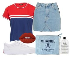 """""""Untitled #1598"""" by beaukastin ❤ liked on Polyvore featuring Topshop, Vans, Lime Crime, Chanel, NYX and philosophy"""