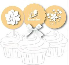 Free Printable Cupcake Toppers and Stickers - Wedding Favors