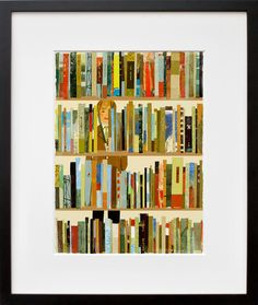 In the Library by Tatsuro Kiuchi framed print.  Cute for kids room or play room.