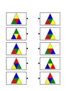 Shapes Worksheet Kindergarten, Shapes Worksheets, Preschool Math, Kindergarten Worksheets, Toddler Learning Activities, Preschool Activities, Kids Learning, Visual Perceptual Activities, Thinking Skills