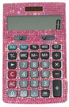 swarovski calculator. Makes maths so much more fun!!!