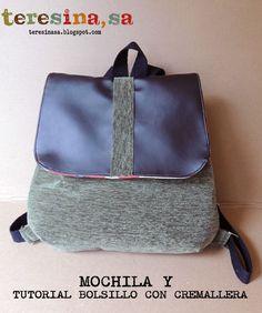 Mochila (y tutorial bolsillo con cremallera)                              …