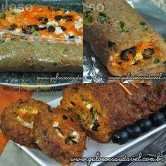 Dica simples para o #almoço, o Rocambole de Carne Light, (fiz com aveia) é super prático e delicioso! Quem vai fazê-lo?  #Receita aqui: http://www.gulosoesaudavel.com.br/2012/10/30/rocambole-de-carne-light/