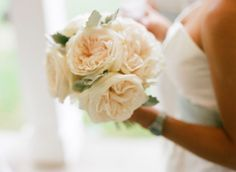 ivory bridesmaid bouquet