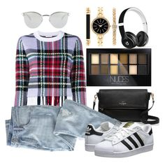 """""""Untitled #1360"""" by littledeath11 ❤ liked on Polyvore featuring Chloé, Kate Spade, Wrap, Fendi, adidas Originals, Maybelline, Style & Co. and Beats by Dr. Dre"""