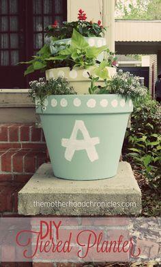 The Motherhood Chronicles: DIY Tiered Planter #DIY #Planter