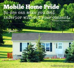 This is what mobile home living is all about!