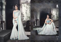 Indian Bollywood Traditional Partywear Georgette Saree With Blouse Piece- AK708