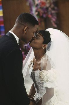 Will Smith and Nia Long in The Fresh Prince of Bel-Air Lisa Fresh Prince, Black Love, Black Is Beautiful, Long Black, Will Smith, Prinz Von Bel Air, Estilo Hip Hop, Nia Long, Wedding Movies