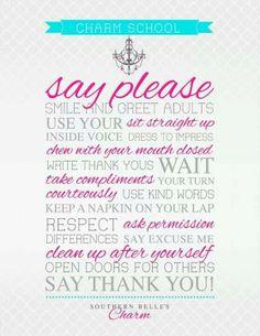 Southern charm Kindness, Common Courtesy, Etiquette, Decency