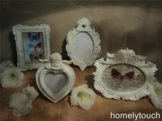 VINTAGE STYLE WHITE PHOTO PICTURE FRAMES | eBay
