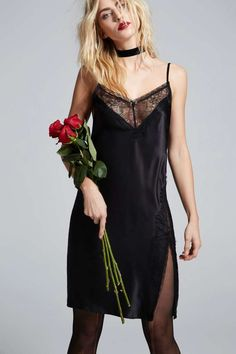 Love, Courtney by Nasty Gal Once and Destroy Satin Slip - Clothes | Going Out | LBD | Solid | Sleep | Lingerie Accessories | Dresses | Lingerie