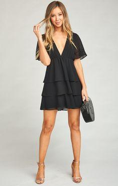 Dulce Dress ~ Black Chiffon – Show Me Your Mumu Cute Dresses, Casual Dresses, Short Dresses, Summer Dresses, Elegant Dresses, Sexy Dresses, Party Dresses, Tight Dresses, Formal Dresses