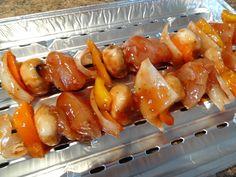 Marinade érable et ketchup pour brochettes #bbq #poulet