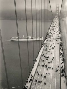 Love this view of the Golden Gate Bridge with no cars!!