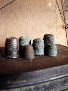 set of antique thimbles - 19th and 18th century - instant collection - secret histories. $65.00, via Etsy.