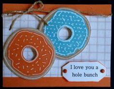 Barbara's Orange & Blue Donuts, L.I. Template #S885.