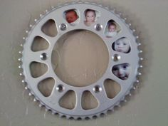First Year Photo Frame Using Dirt Bike Parts