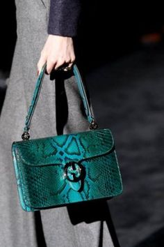 Green clothes shoes accessories - myLusciousLife.com - gucci accessories fall 2011.jpg