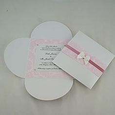 Easy DIY wedding invitation to make yourself.  Blank white butterfly cards