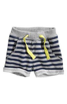 Mega lækre Name it Sweatshirtshorts Herman mini Mørkeblå Stribet Name it Shorts til Børn & teenager til hverdag og til fest