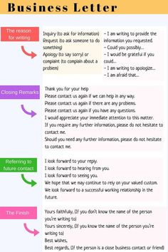 How to Write an Effective Business Letter in English – ESL Buzz You are in the right place about trade school career ideas Here we offer you the most beautiful pictures about the career ideas bulletin Essay Writing Skills, English Writing Skills, Writing Words, English Lessons, Business Writing Skills, English English, English Grammar, Writing Guide, Writing Topics