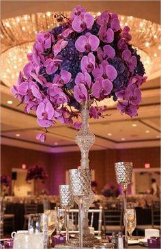 100 Fabulous Tall Wedding Centerpieces orchid and hydrangea centerpieces purple wedding ideas indoor reception. Purple Wedding Centerpieces, Wedding Flower Arrangements, Diy Wedding Decorations, Wedding Bouquets, Wedding Ideas, Hydrangea Centerpieces, Diy Centerpieces, Wedding Dresses, Floral Arrangements