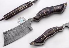 "10.50"" Custom Made Beautiful Damascus Steel Full tang Razor Knife (AA-0176-39) #UltimateWarrior"