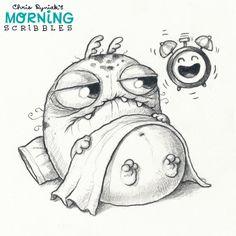 cute art and monster. Artist Chris Ryniak