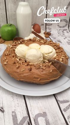 Caramel Apple Cake! It has fruit in it....it's practically a fruit salad! This delicious dessert is easy to make, topped with chopped nuts and ice cream, it will surely become your new favorite cake flavour! Check out Chefclub TV for more sweet snacks. Apple Recipes, Baking Recipes, Cake Recipes, Dessert Recipes, Amazing Food Decoration, Delicious Desserts, Yummy Food, Buzzfeed Tasty, Chocolate Chip Banana Bread