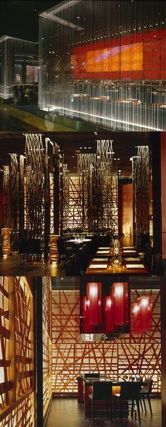 Oriental Restaurant, Modern Restaurant, Chinese Restaurant, Restaurant Design, Restaurant Bar, Lobby Interior, Interior And Exterior, Chinese Interior, Teppanyaki