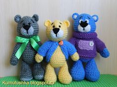 Amigurumi Little Bears-Free Pattern