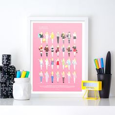 CLUELESS Movie Poster, Cher Horowitz and all her looks, fashion illustration, funny home decor, minimalist movie poster, fashion gay gift
