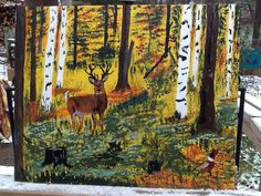 Deer in Sean's backyard.