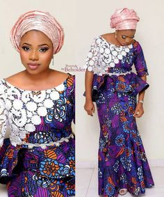 http://www.dezangozone.com/2016/10/beautiful-white-lace-and-ankara.html
