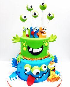 Monster 1st birthday cake