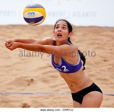 Claudia Rios of Mexico competes at the 2012 FIVB Beach Volleyball SWATCH Junior World Championships. - Stock Image