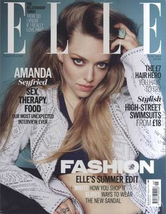 Amanda Seyfried: I'm a Victim of Wanting to Look Like a Supermodel: Photo Amanda Seyfried shows off her totally flat stomach on the cover of Elle UK magazine's June 2014 issue, on newsstands now. V Magazine, Fashion Magazine Cover, Fashion Cover, Star Fashion, Magazine Covers, Women's Fashion, Magazine Photos, Fashion Images, Fashion Editorials