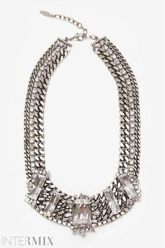 Dannijo Crystal Chainlink Necklace