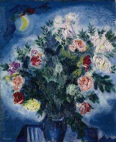 Marc Chagall (1887-1985) Bouquet de fleurs avec amoureux, 1927