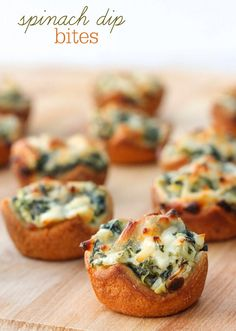 Spinach dip bites. . .for my daughter!
