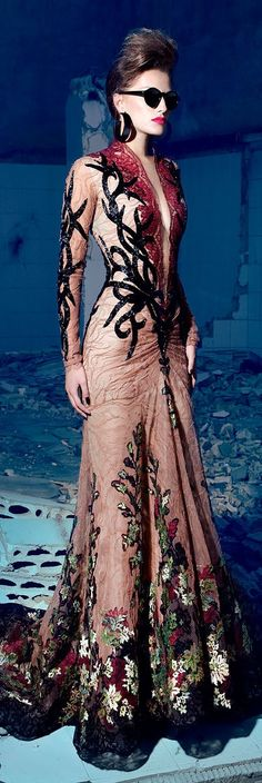 Nicolas Jebran Couture Fall/Winter 2013 (I would change a bit the lower part, made it more like the upper)
