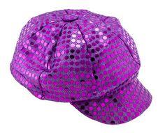 Newsboy Spangle Purple Cap (Purple Hat)