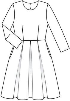 Платье - выкройка № 121 из журнала 11/2012 Burda – выкройки платьев на Burdastyle.ru