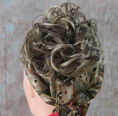 Ponytail Extension HAIRPIECES Beautiful Dark Blonde Mix Hair Holder / Scrunchie