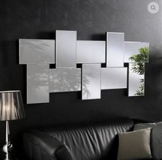 Unique Ideas Can Change Your Life: Wall Mirror Vintage Products wall mirror above couch gray.Antique Wall Mirror Hallways round wall mirror and shelf.Wall Mirror Above Couch Gray. Interior, Mirror Wall Decor, Mirror Design Wall, Mirror Interior Design, Home Decor, Mirror Interior, House Wall, Mirror Wall Bedroom, Interior Design