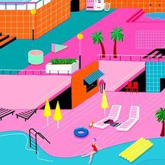 #drawing#illustration#artwork#pool