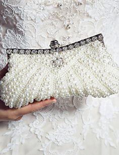 Bridal Clutch #Pearls