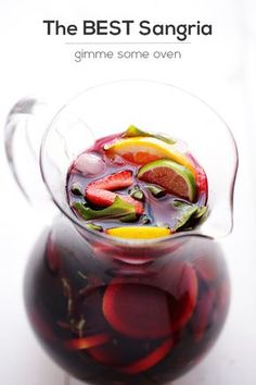 Ingredients    2 (750 mL) bottles dry red wine, such as Cabernet Sauvignon or Merlot   1 cup brandy   1/3 cup sugar   1/4 cup orange liqueur   1 pound DOLE strawberries, hulled and halved   3 oranges, thinly sliced   3 limes, thinly sliced   2 lemons, thinly sliced   4 cups DOLE fresh arugula   (optional) 1 can lemon-lime soda