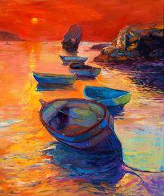 Boats from $34.99  | www.wallartprints.com.au #ImpressionismArt